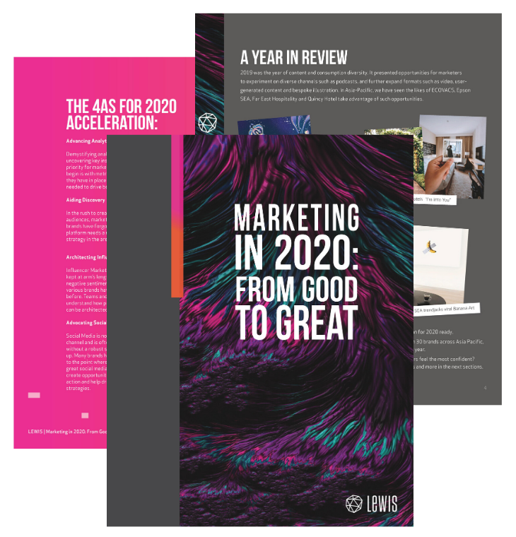 Marketing trends 2020 - Report and guide