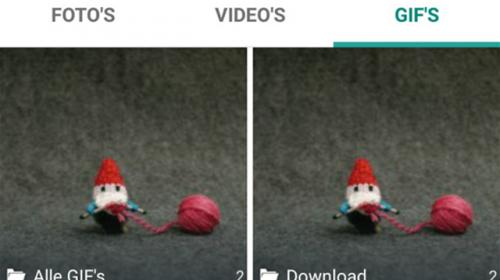 GIF-animaties versturen via WhatsApp