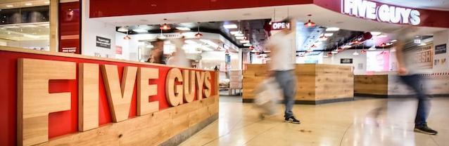 Five Guys rush
