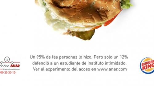 Bullying Jr : la campaña de concienciación social de Burger King