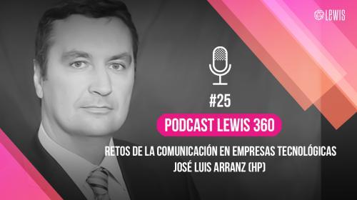 Podcast LEWIS 360: #25 – Retos de la Comunicación en Empresas Tecnológicas, con José Luis Arranz (HP)