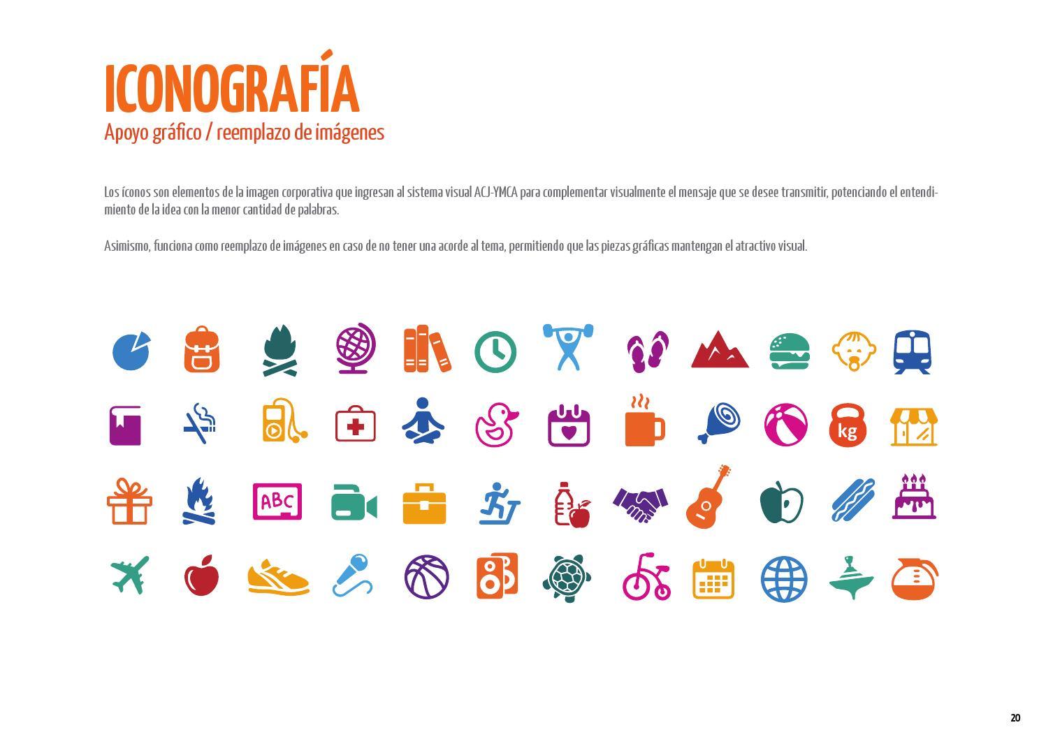 iconos de un manual de identidad corporativa