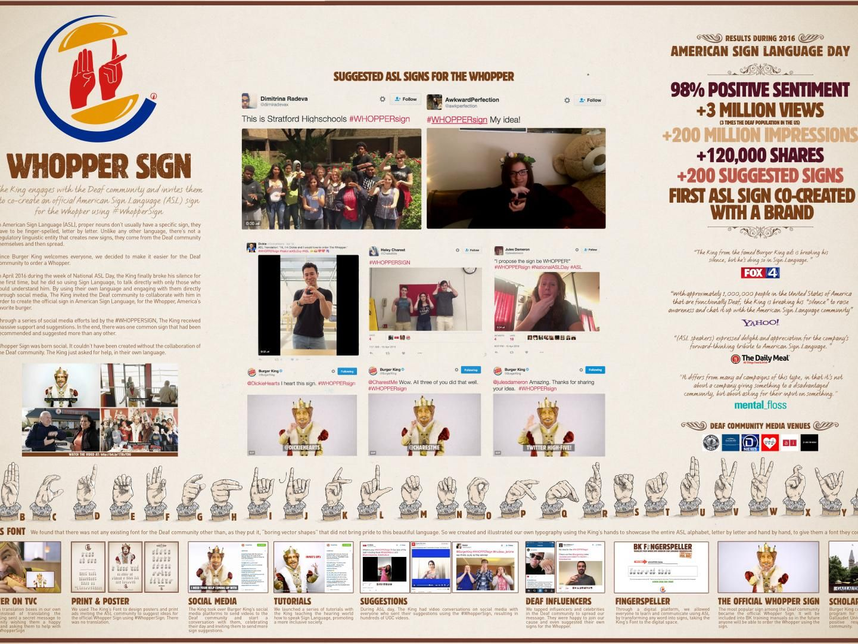 campaña publicitaria burger king en lengua de señas