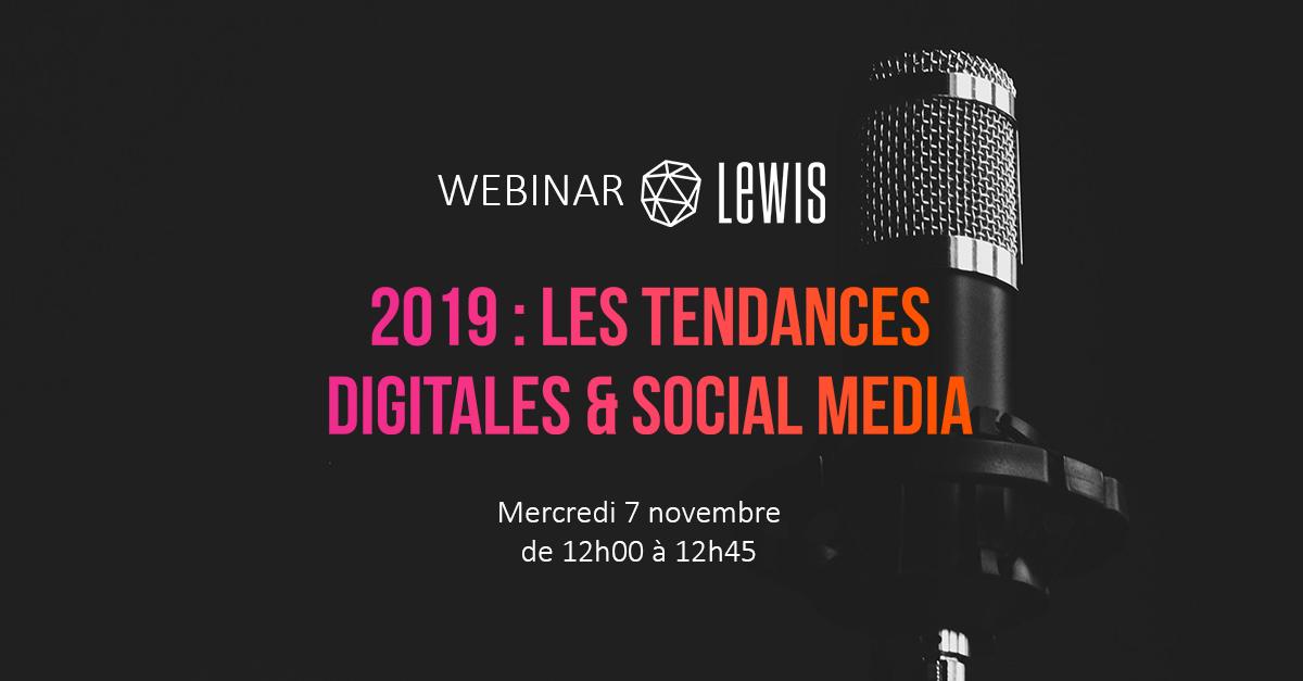 Webinar Digital Social Media 2019