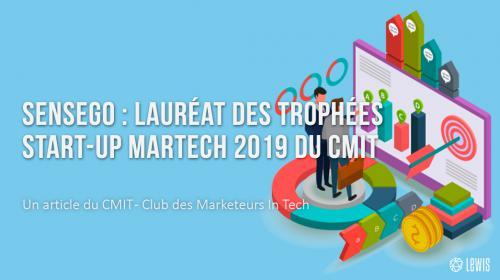 Sensego : lauréat des Trophées start-up Martech 2019 du CMIT