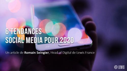 6 tendances social media 2020