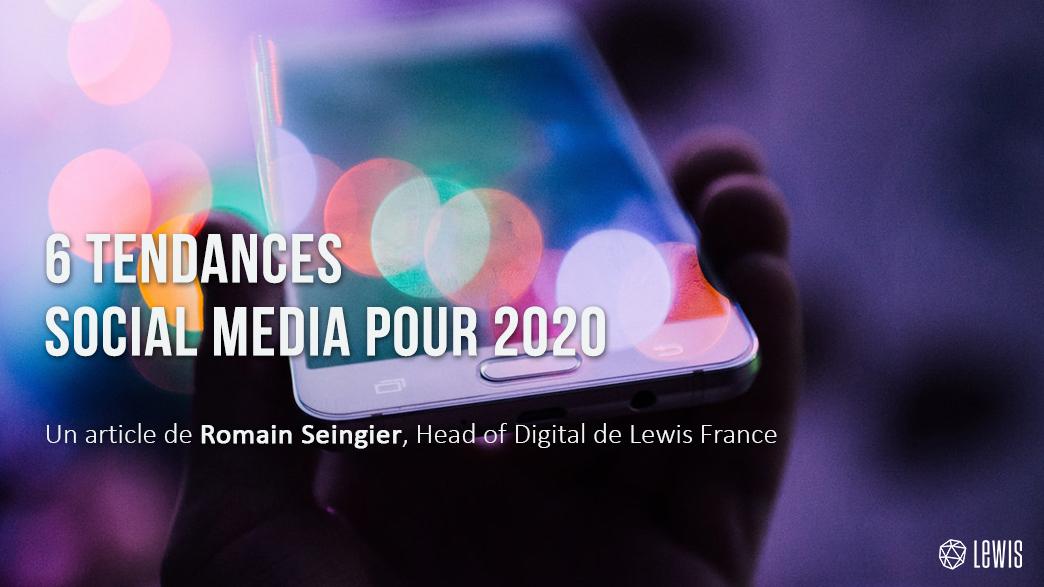 tendances social media pour 2020