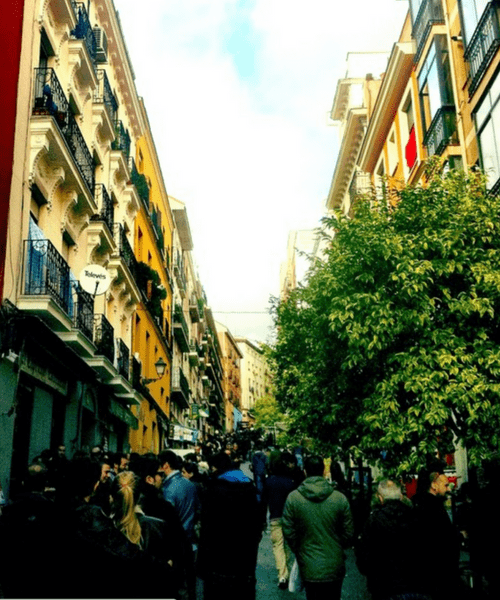 Final Courtney's street in Madrid