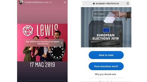 instagram stories sticker elezioni europee