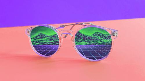 Vista Digitale riflessa in un paio di occhiali