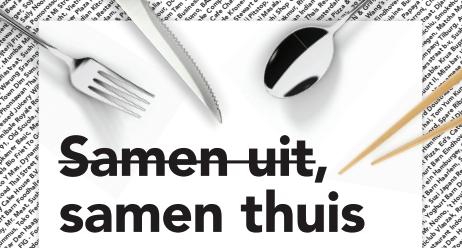 Campagne 'Samen uit, samen thuis' roept Nederlanders op thuis 'uit eten' te gaan
