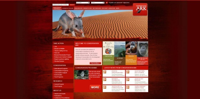Conservation ark homepage