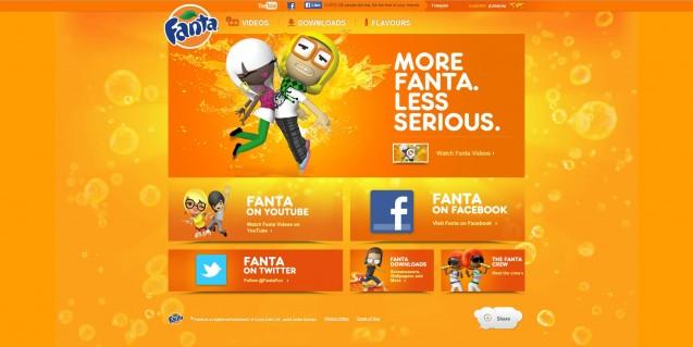 Fanta homepage