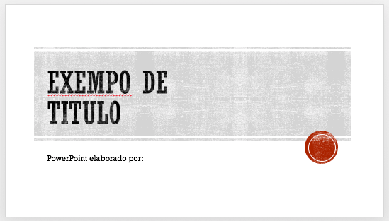 Titulo slide powerpoint