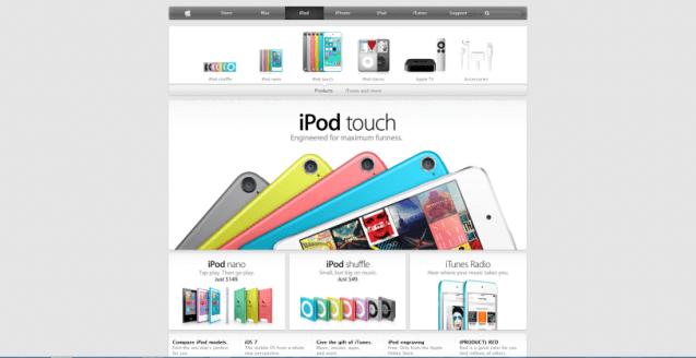 ipod homepage