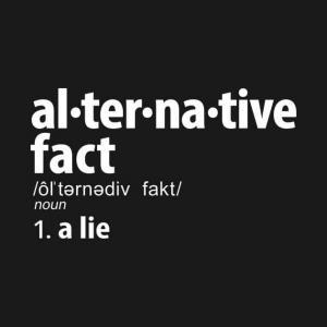 Factos alternativos - mentira