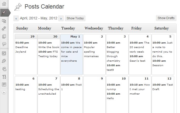 calendario editorial wordpress