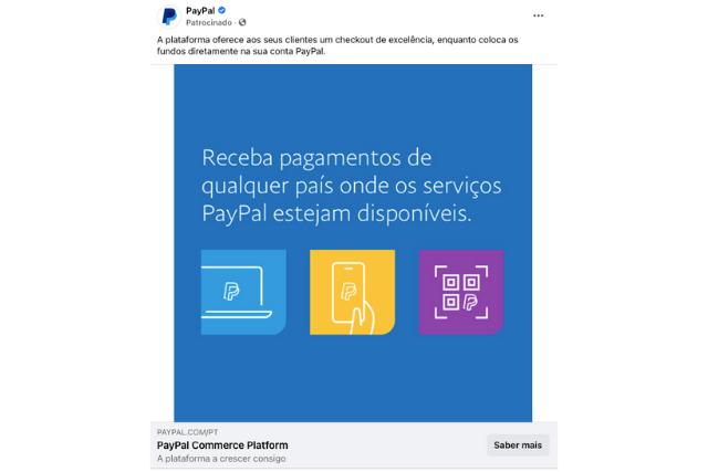 Campanha Paga Facebook - Paypal