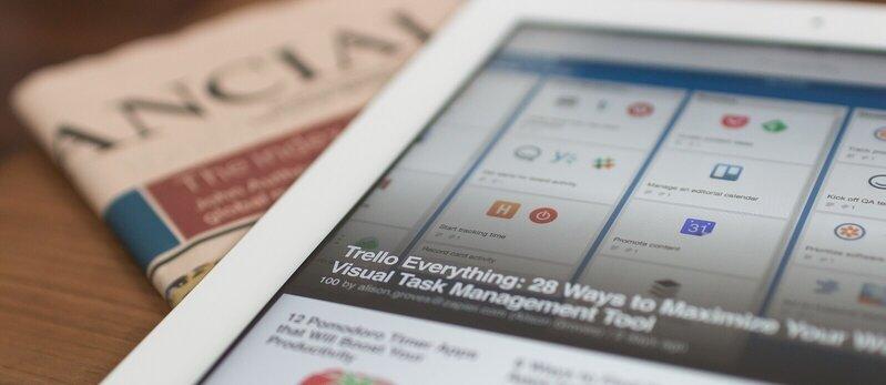 RP e Marketing Conteudo Tablet e Jornal