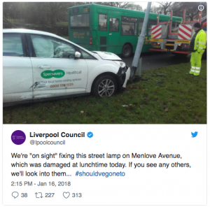 car crash twitter