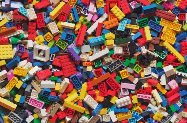 Lego blocks of all different colours