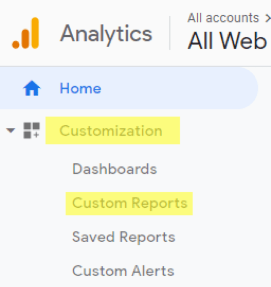 Google Analytics Customization Dashboard