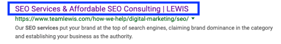 Seo Services Title Tag
