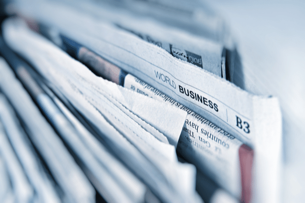stack of newspapers, public relations, press release