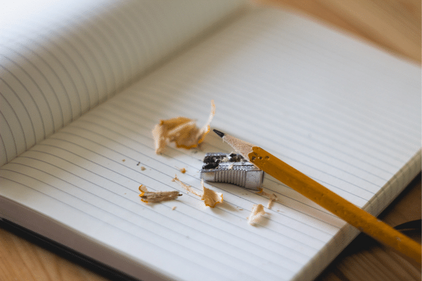 Pencil, writing content to distribute