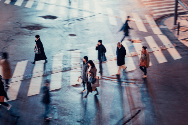 people walking, human connection