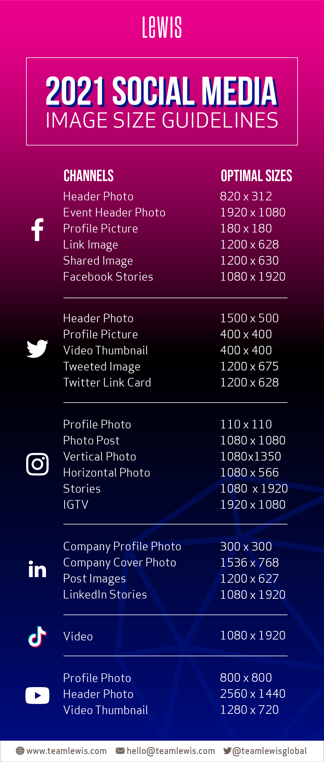 2021 Social Media Image Guidelines