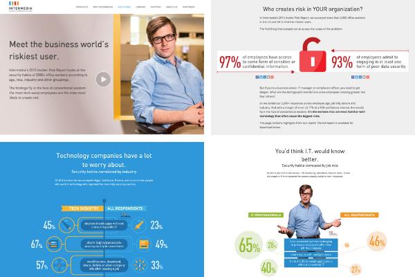 Screenshots of Intermedia's research content