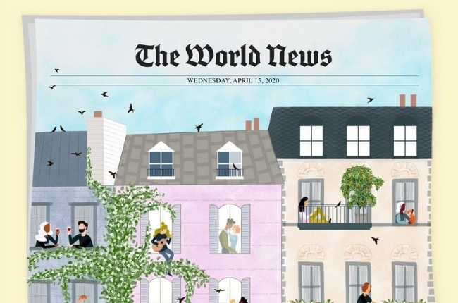 """news paper titled """"The World News"""""""