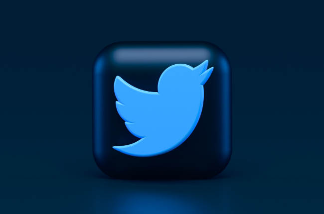 Block with Twitter icon